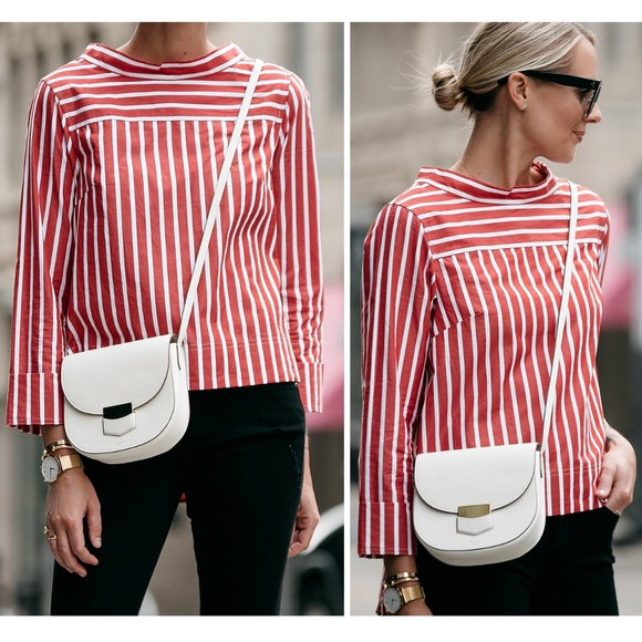 00a836c47fc881  J CREW  Funnel Neck Striped Top Shirt Blogger 121